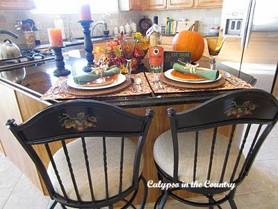Counter seats for Halloween counter setting