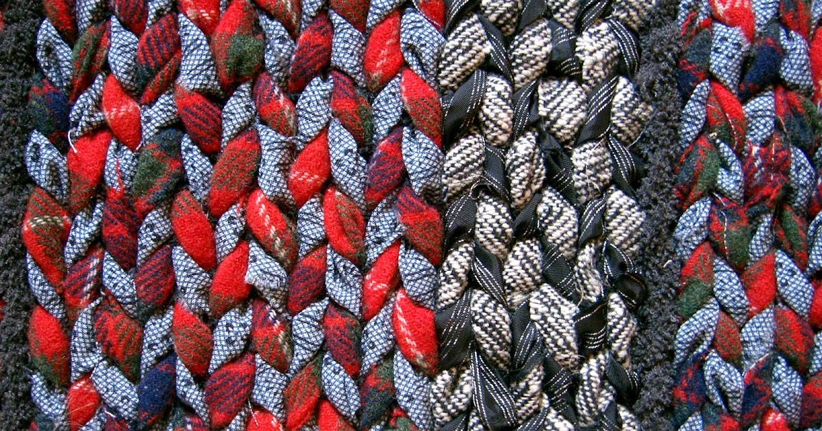 Rags To Rugs Recycling Clothes Into Carpets Twined Rugs From Recycled Clothing