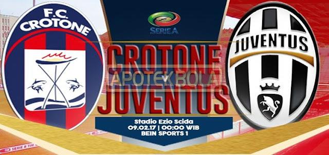Prediksi Pertandingan Crotone vs Juventus 9 Februari 2017
