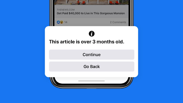 Facebook to Warn Users Who Are About to Share Articles Over 3 Months Old