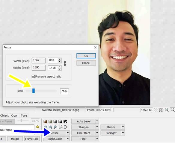Mengecilkan Ukuran Swafoto Menggunakan Photoscape