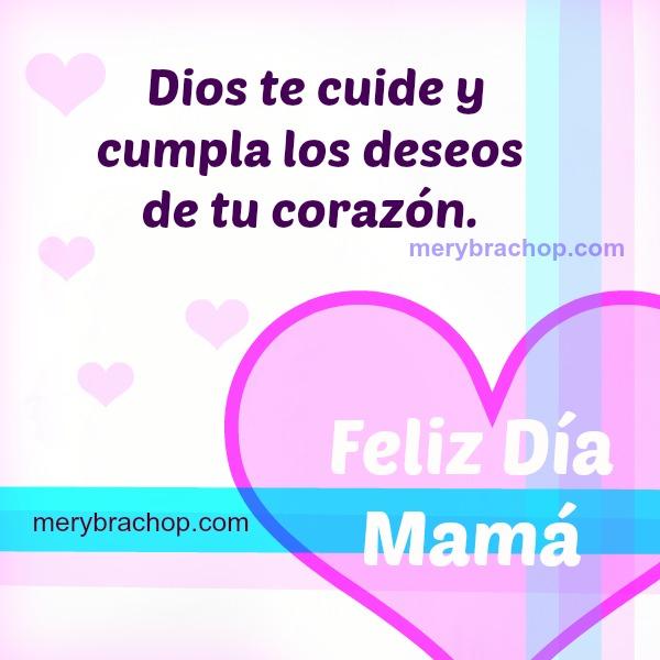 Frases cortas feliz día de la madre mayo, imagen con corazon para mama,  feliz dia bendiciones cristianas