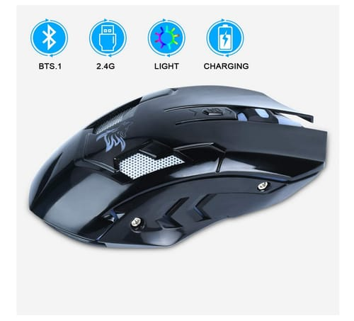 HOTLIFE Bluetooth Rechargeable 2.4G Wireless Mouse