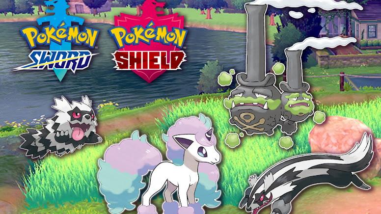 Pokémon Sword e Shield Formas de Galar