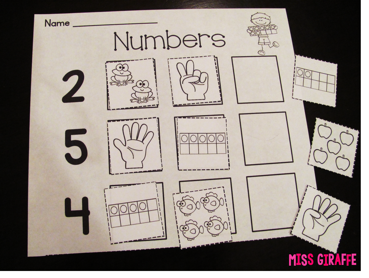 Miss Giraffe S Class Building Number Sense In First Grade