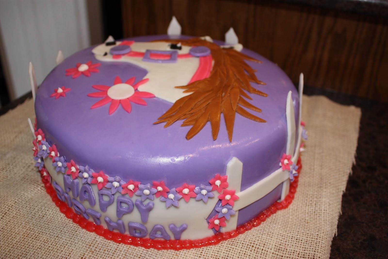 Kati S Cakes Pink And Purple Horse Cake