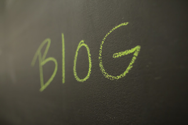 Chalkboard with word Blog on it