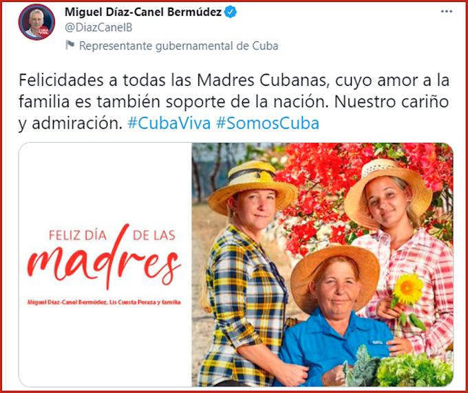 La Seguridad del Estado arremete contra Miguel Díaz-Canel por el día de las madres