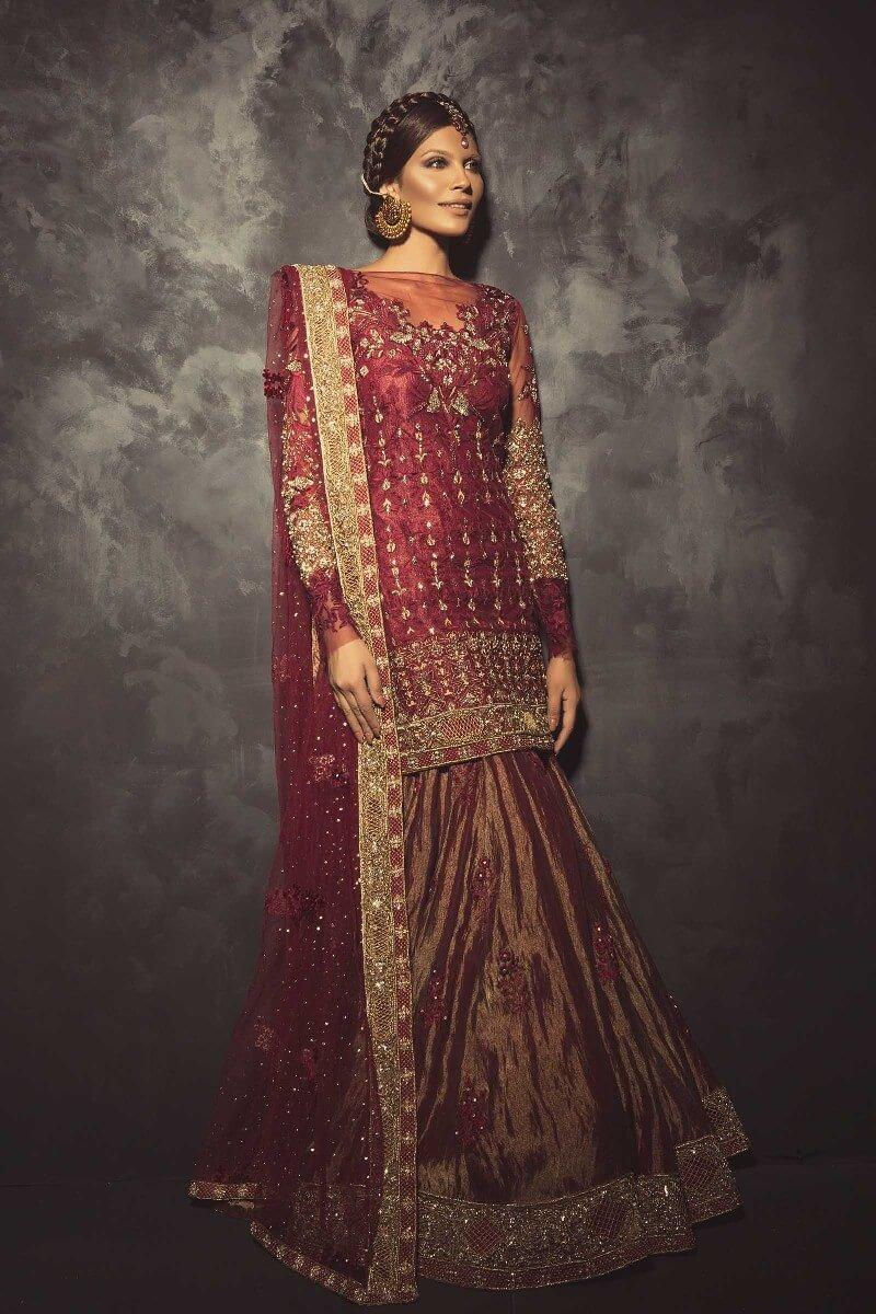 Mahgul Red Bridal Suit