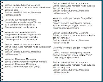 Lirik Lagu Macarena TikTok DJ Remix Dalinda Lengkap Terjemahan Arti Bahasa Indonesia