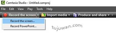 Camtasia studiao adalah tool perekam dan edit video