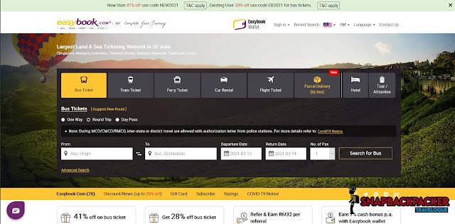 Easybook Bus Ticket Portal