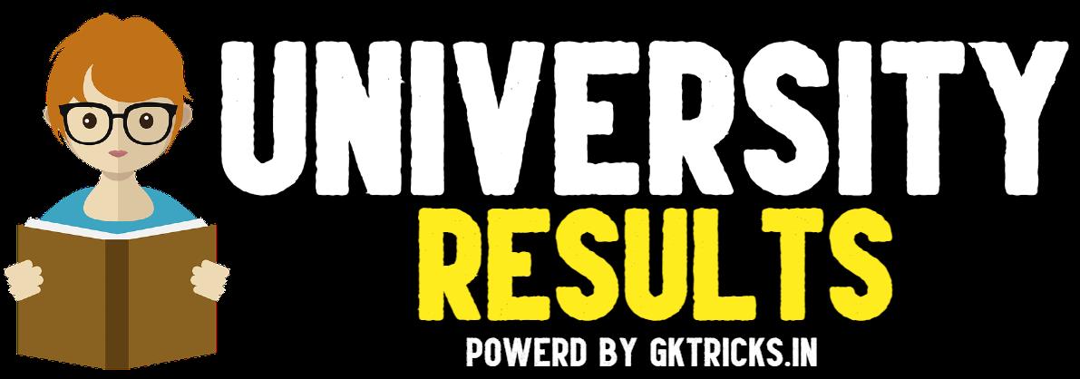 University Results by Gktricks