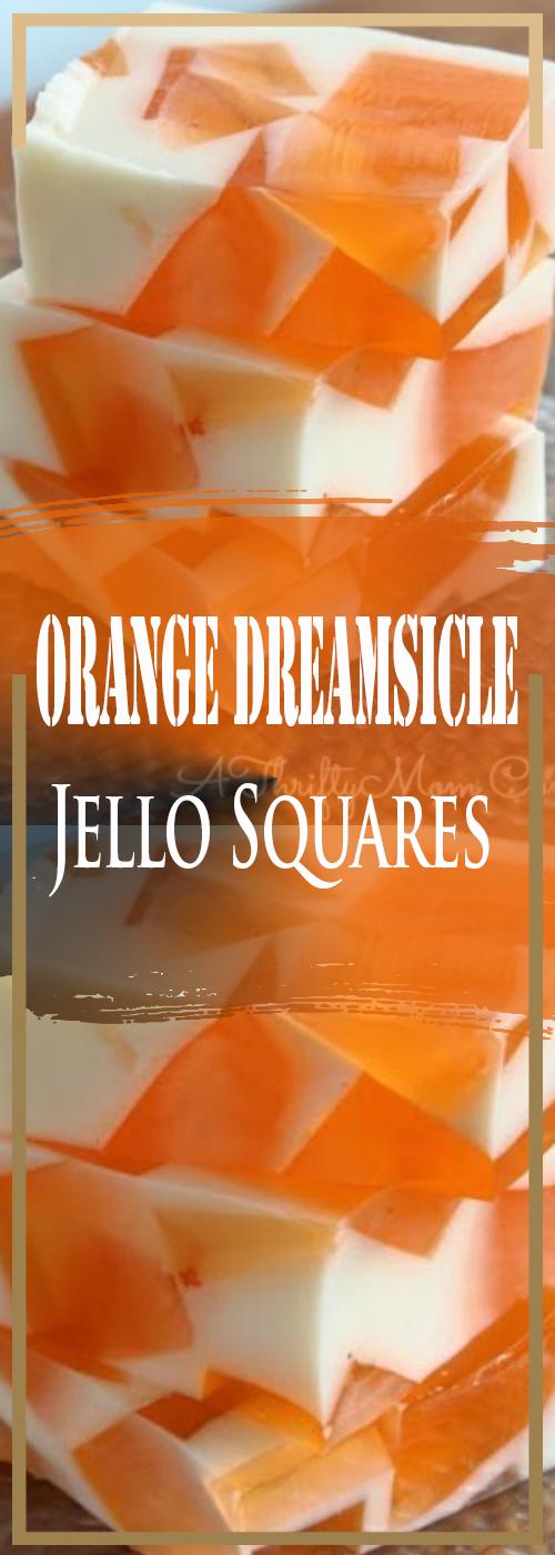 Orange Dreamsicle Jello Squares Recipe