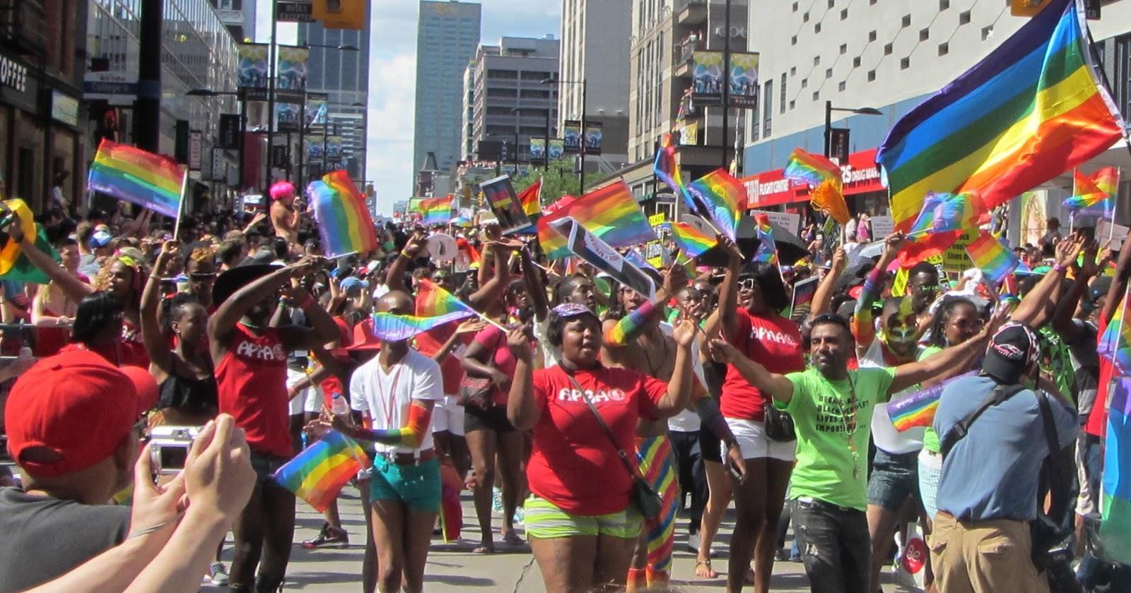 Montreal Pride parade celebrating 10 years of diversity