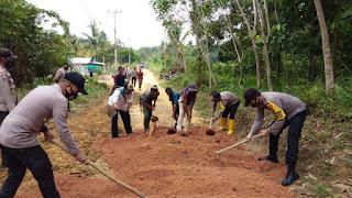 Polsek Singkep Barat Lakukan Goro di Desa Pesiapan Air Batu Kec. Singkep Barat