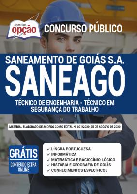 Apostila Concurso SANEAGO 2020 PDF Edital Online Inscrições