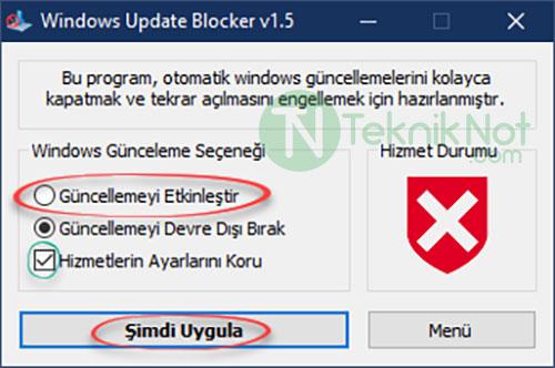 Windows 10 Update Erişim engellendi Sorunu Çözümü