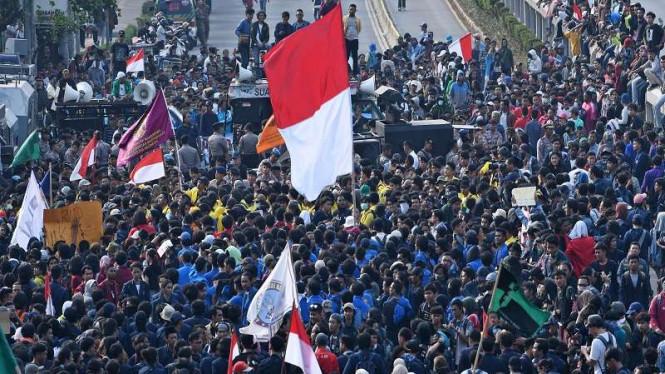 Dituding Gagalkan Pelantikan Jokowi, Mahasiswa: Jangan Sudutkan Kami Yang Turun Ke Jalan