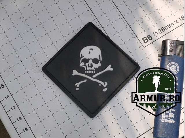 ecuson Patch Cap de mort airsoft