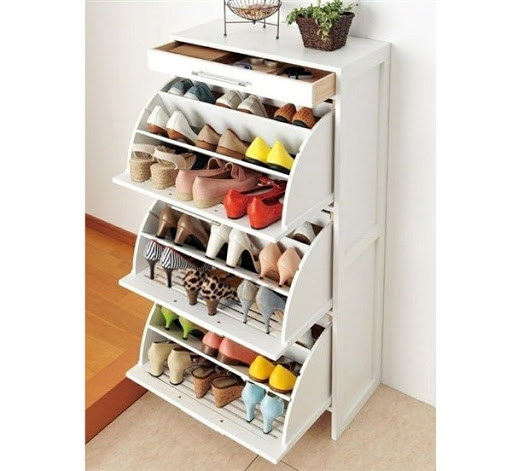 white shoe storage