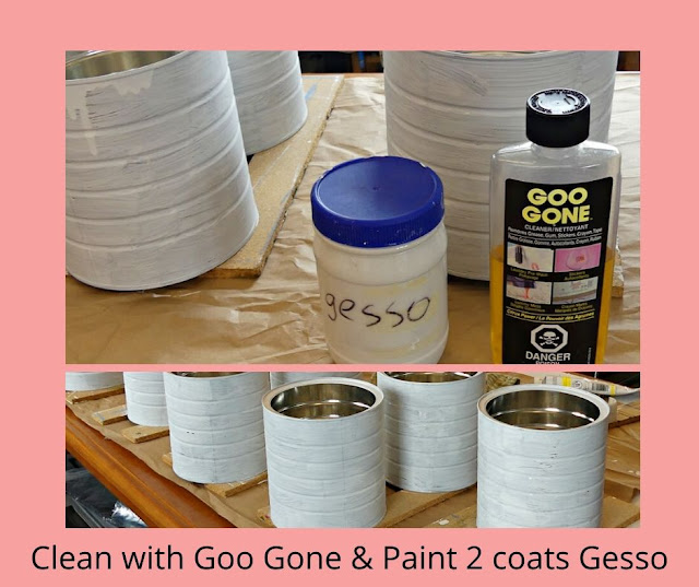 Clean & paint 2 coats of gesso