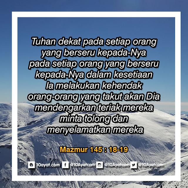 Mazmur 145: 18-19