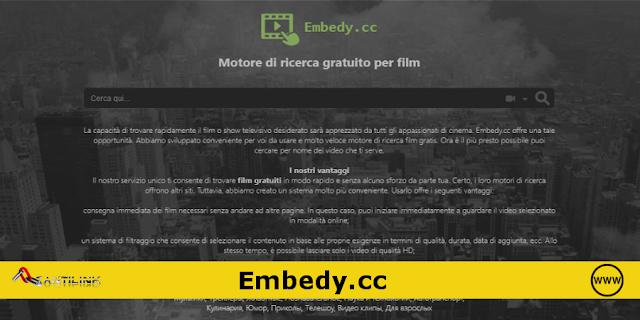 Embedy.cc, motore di ricerca film