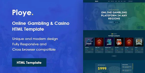 Best Online Gambling and Casino HTML Template