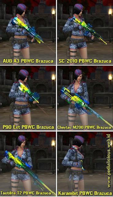 Harga & Statistik Seri PBWC Brazuca Rules Senjata Point Blank Zepetto
