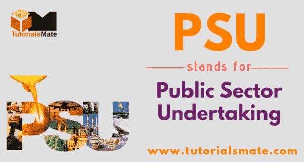 PSU Full Form