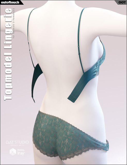Topmodel Lingerie for Genesis 3 Female