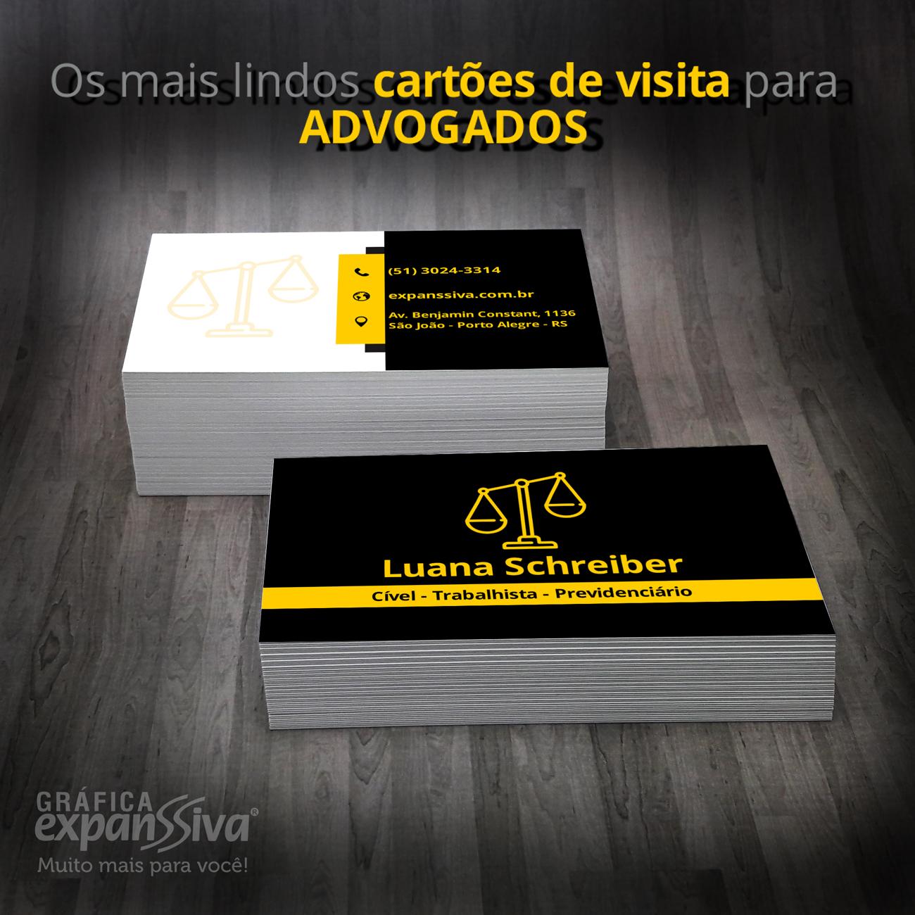 Incríveis Cartões de Visita para Advogados