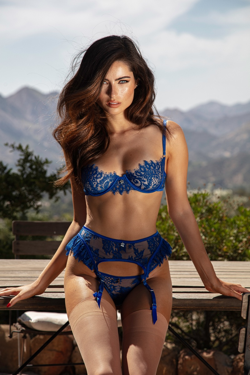 RENEE MURDEN HEATS UP EATS LINGERIE 'BLUE CHERRY' CAMPAIGN