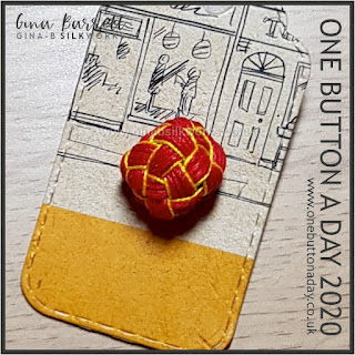 Day 285 : Square Knot - One Button a Day 2020 by Gina Barrett