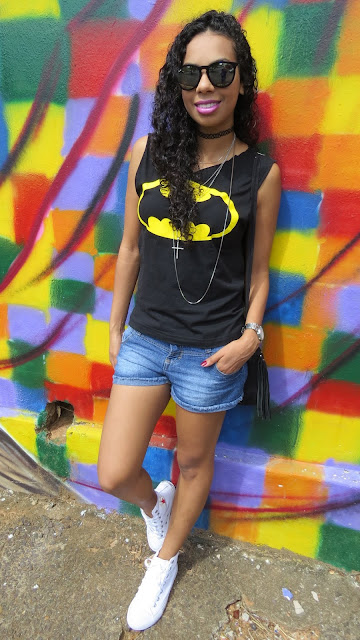 Look do dia T-shirt Batman!