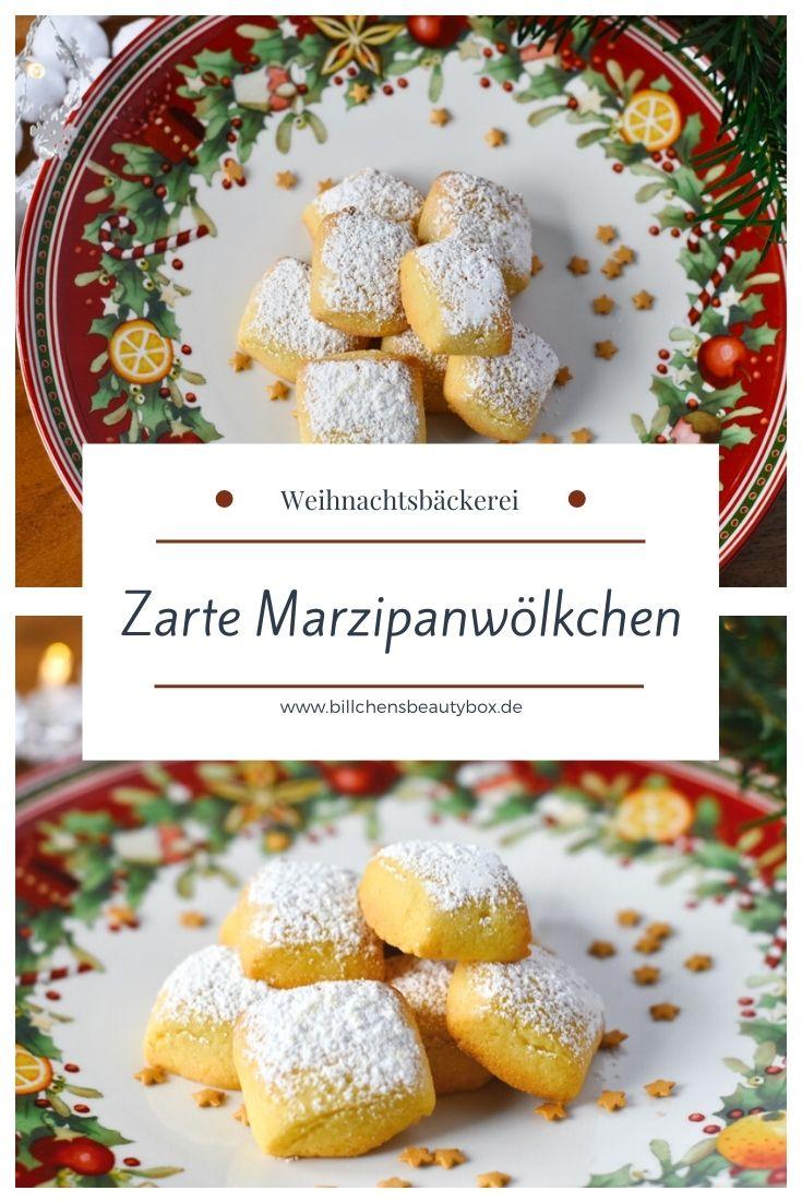 Rezept Zarte Marzipanwölkchen Weihnachtsbäckerei Plätzchen