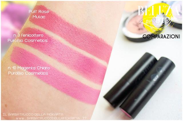 beleza purobio collezione  lipstick 10 magenta chiaro comparazioni review