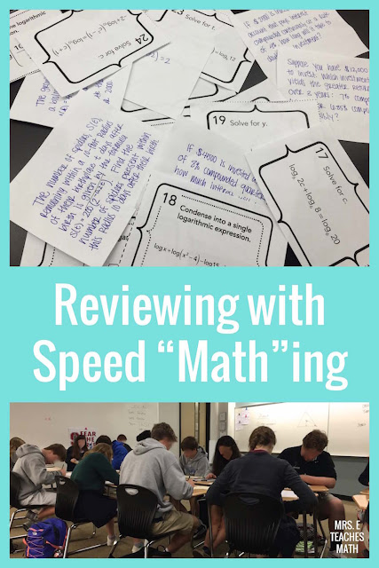 This is a fun activity idea for students in middle school or high school math.  I love playing this game with task cards.