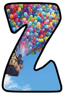 Abecedario de la Película Up. Up Movie Alphabet.
