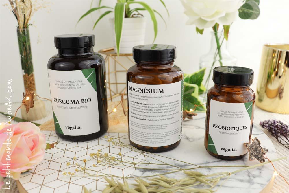 vegalia : magnésium, probiotiques et curcuma bio