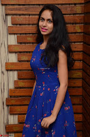 Pallavi Dora Actress in Sleeveless Blue Short dress at Prema Entha Madhuram Priyuraalu Antha Katinam teaser launch 021.jpg