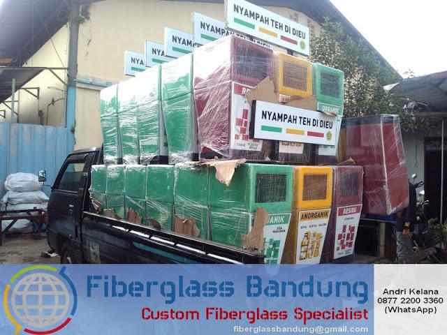 harga bak sampah fiber model 3 pilah
