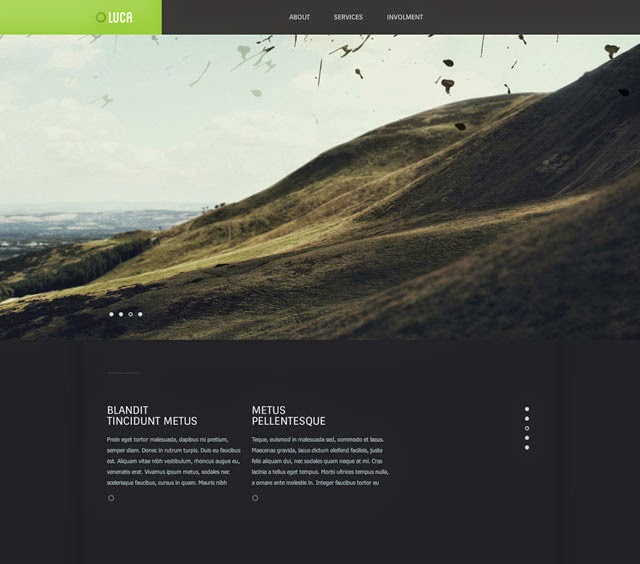 Luca - Free Modern Website PSD Template