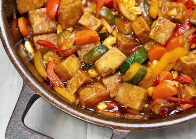Kung Pao Tofu #vegetarian #dinner