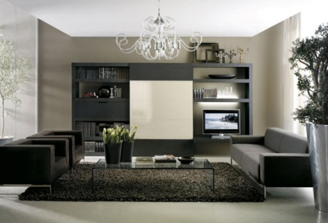 Modern living room furniture cabinet designs an - Modern wall decor for living room ...