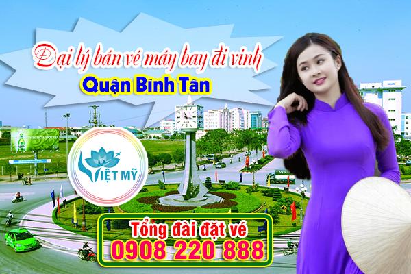 Đại lý bán vé máy bay đi vinh quận Bình Tân