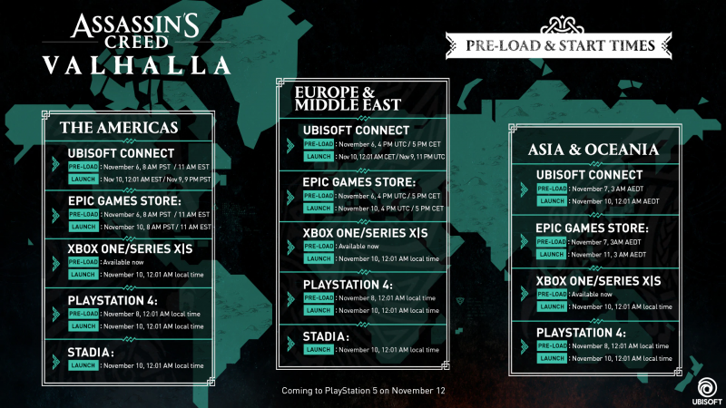 Assassin's Creed: Valhalla Day 1 Patch Details screenshot 4
