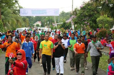 Senam dan Jalan Sehat Bersama Warnai HUT KORPRI Ke-46 Tahun 2017 di Lampung Timur
