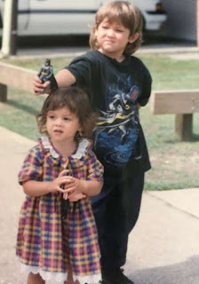 Chai Hansen's childhood picture with his sister